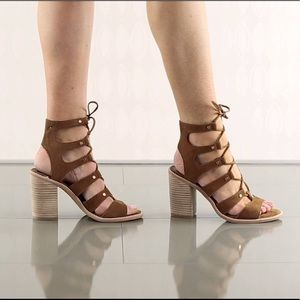 Dolce Vita Strappy Brown Heels